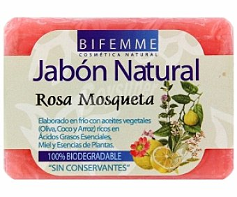 BIFEMME Jabón natural de rosa mosqueta, laboratorios ynsadiet 100 Gramos