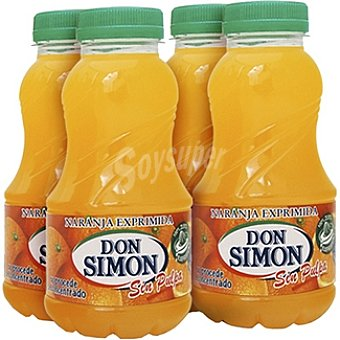 Don Simón Zumo de naranja exprimida sin pulpa Pack 4 envase 200 ml