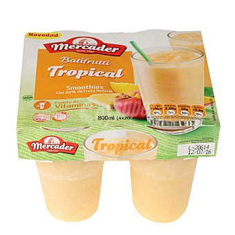 MERCADER Batifrutt tropical Pack de 4x200 g