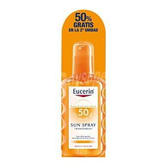 Eucerin Spray solar transparente FP 50 Pack 2x200 ml