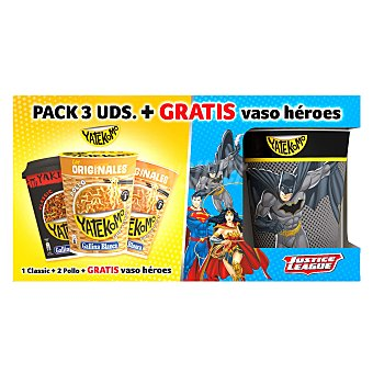Gallina Blanca Pack heroes 2 fideos orientales yatekomo pollo + 1 classic