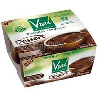 Vrai Postre de chocolate Pack 4x115 g