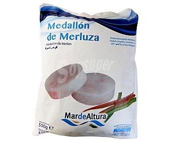 Mar de Altura Medallón de merluza congelada 500 Gramos