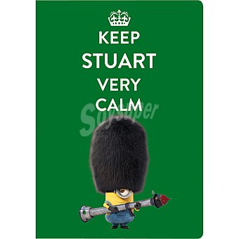 Libreta grapa A4 Minions Keep Stuart Very Calm