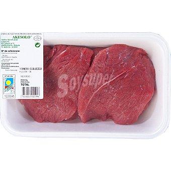 AKESOLO Filetes 1ª A de ternera ecológica bandeja peso aproximado 500 g