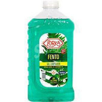 Zorka Gel limpiador con bioalcohol baños fento Botella 1 litro