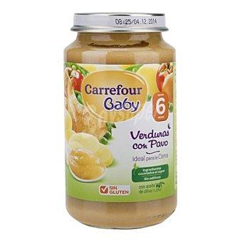 Carrefour Baby Tarrito de verduras con pavo 250 g