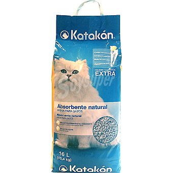 Absorbente natural calidad extra para gatos Bolsa 16 l