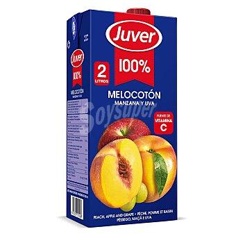 Juver Zumo concentrado melocotón, uva y manzana Brik 2 l
