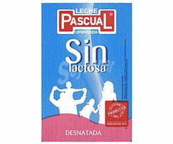 Pascual Leche Desnatada Sin Lactosa Pack 4x1 litro