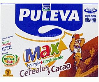 Puleva Max Leche crecimiento con cereales y cacao 6x1L