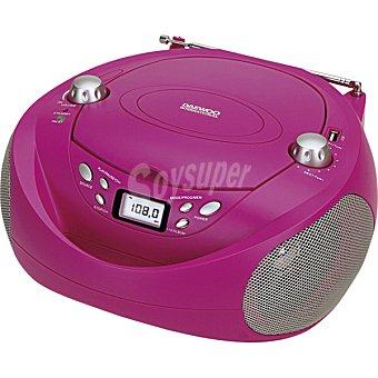 Daewoo Radio CD MP3 portátil con USB en color rosa DBU-37P