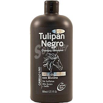 Tulipan Negro Champú Cabello Liso Crin de caballo con biotina sin sulfatos botella 800 ml uso diario Botella 800 ml