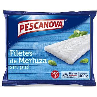 Pescanova Filetes de Merluza sin piel, , 3-6 filetes medianos 400 g