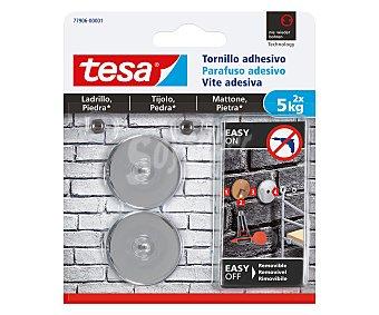 Tesa Tornillo adhesivo redondo hasta 5kg, TESA. 5kg
