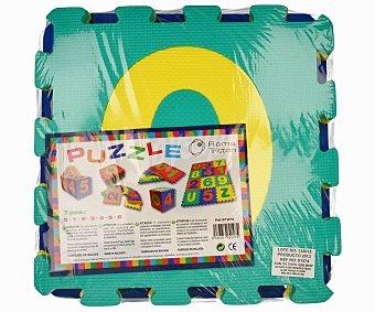 RAMA TRITTON Puzzle de suelo fabricado en goma Eva, 7 piezas con numeros letras y colores 1 unidad