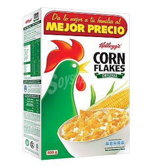 Corn Flakes Kellogg's Corn Flakes cereales de desayuno Caja 500 g