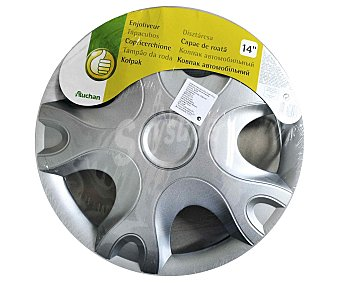 """Productos Económicos Alcampo Tabacubo con acabado en color plata para ruedas de 14"""" 1 unidad"""