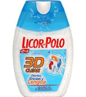 Licor del polo Dentífrico y Elixir 2en1 para dientes, encías y lengua 75 ml