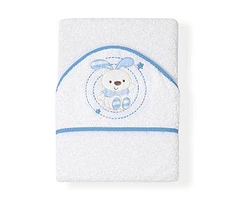 FRIENDS Capa de baño bebé, 75x75, color azul, conejo