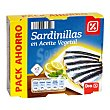Sardinilla en aceite vegetal Pack de 2 latas de 63 grs DIA