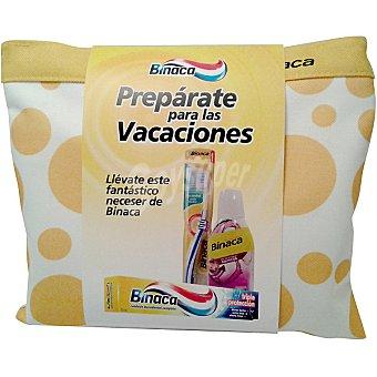 Binaca Neceser de viaje con pasta dentífrica triple protección + cepillo de dientes + enjuague
