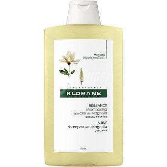 Klorane Champú a la cera de Magnolia da brillo al cabello apagado por las agresiones diarias Frasco 400 ml