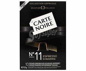 Carte Noire Café molido de tueste natural en monodosis espresso irresistible 10 unidades
