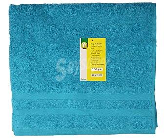 Productos Económicos Alcampo Toalla de ducha 100% algodón color turquesa, densidad de 360 gramos/m², 70x130 centímetros 1 unidad