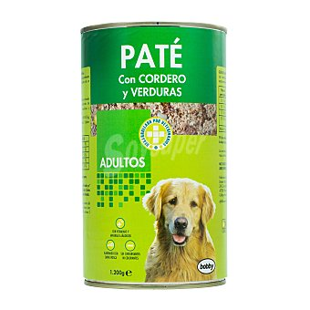 Bobby Comida perro pate cordero verdura adulto razas medianas y grandes Bote 1200 g