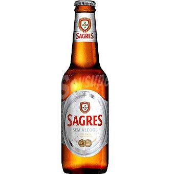 SAGRES Zero Cerveza sin alcohol botella 33 cl