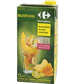 Carrefour Zumo exprimido sabor multifruta Sin azúcares añadido Brik de 1 l