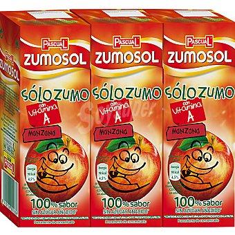 Zumosol Zumo concentrado de manzana con vitamina C 3 bricks de 200 ml