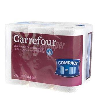 Carrefour Papel de cocina compact 6 rollos