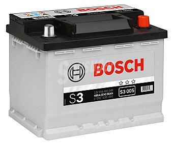 Bosch Batería de automóvil de 12v y 56 Ah, con potencia de arranque de 480 Amperios 1 unidad