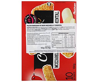 Auchan Palitos rebozados Mozzarella-Emmental 180 g