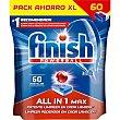 Detergente lavavajillas Power Ball todo en 1 Max bolsa 60 pastillas bolsa 60 pastillas Finish
