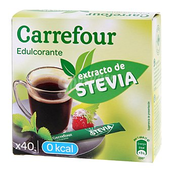 Carrefour Edulcorante Stevia en stick 40 ud
