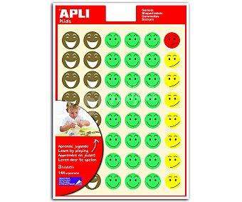 APLI Hoja de gomets adhesivos y removibles con Smileys con diferentes estados de ánimo 3 unidades