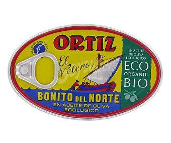 Ortiz El Velero Bonito del norte en aceite de oliva ecológico Lata 82 g neto escurrido