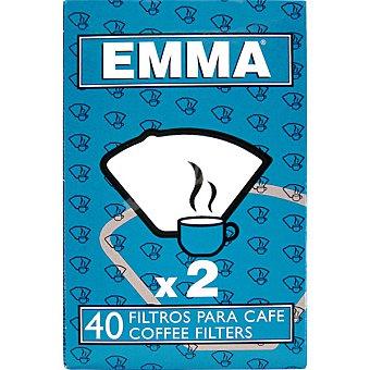 EMMA Filtro para cafetera x 2 caja 40 unidades