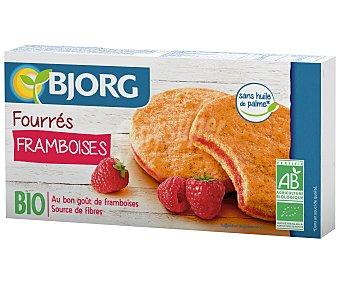 Bjorg Galletas ecológicas rellenas de frambuesa, 225 gramos