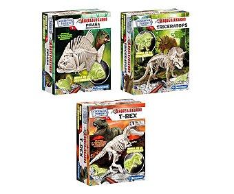 CLEMENTONI Surtido de juegos cientificos Arqueojugando Dinos Fluorescentes, 1 unidad