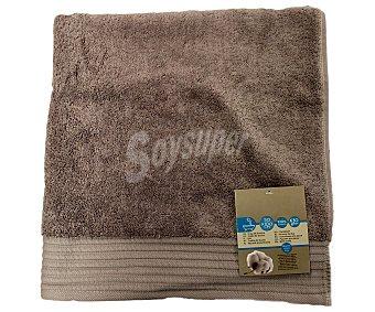 AUCHAN Toalla de lavabo lisa color marrón de algodón egipcio, 630 gramos/m², 50x100 centímetros 1 Unidad