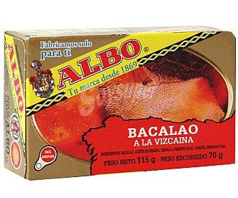 Albo Bacalao a la vizcaína Lata 70 g