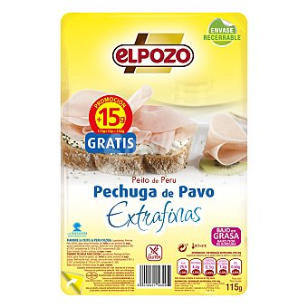 ElPozo Pechuga de pavo extrafina 125 g
