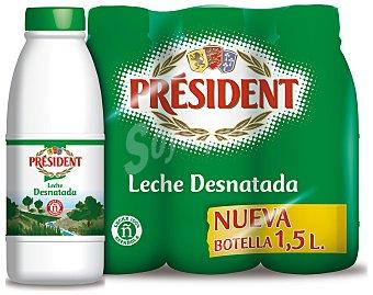 Président Leche desnatada de vaca president 6 x 1.5 l