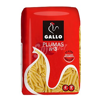 Gallo Pasta de Trigo Plumas nº 3 500 gramos