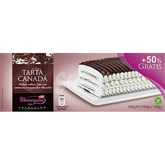 Menorquina Tarta Canadá nata chocolate sin gluten Estuche 600 ml + 300 ml gratis