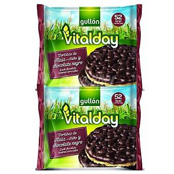 Gullón Tortitas maíz Vitalday chocolate negro 4x25 g